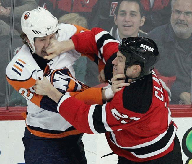 Bataille au hockey