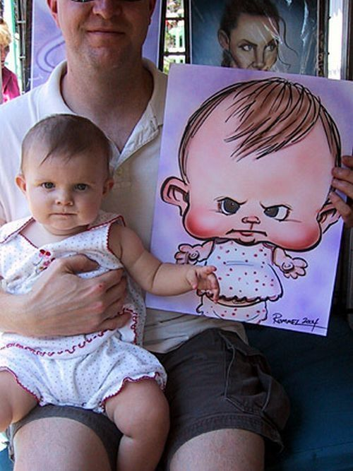 Caricature bebe