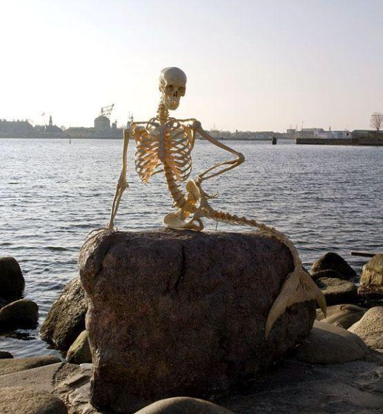 Squelette sirène