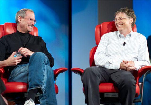 Steve Jobs et Bill Gates