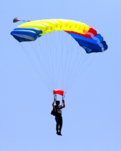 Accident parachute