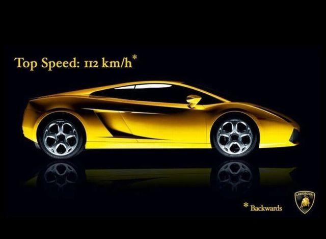 Vitesse de la Lamborghini
