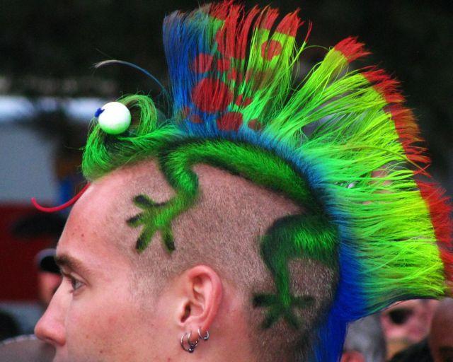 Coupe de cheveux punk
