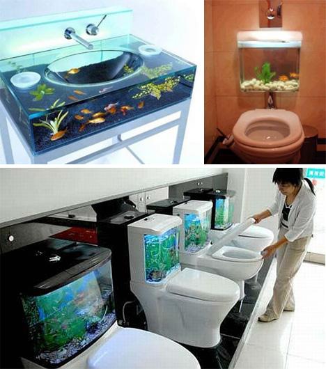 aquarium salle de bain