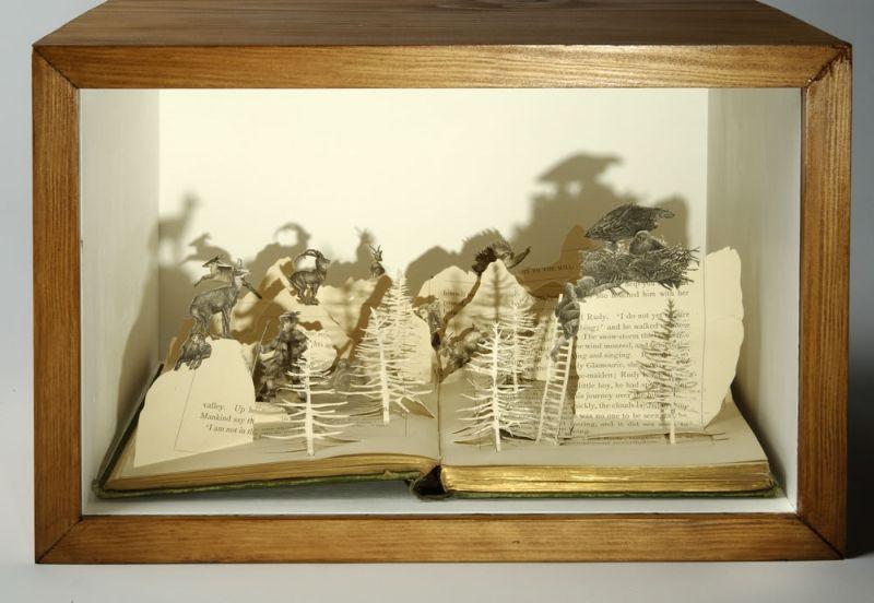 Art avec des livres de l art avec des livres