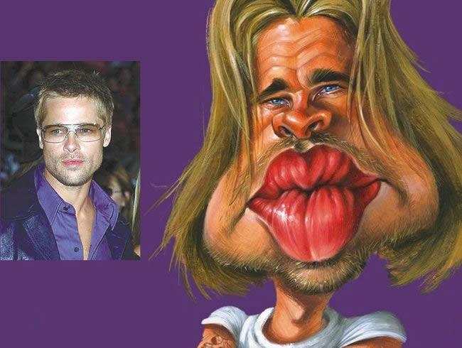 Caricature de Brad Pitt