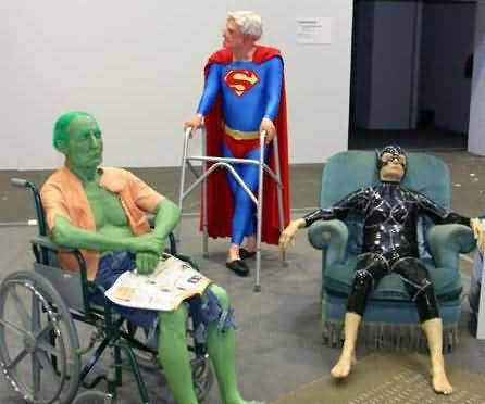 Funny Old Pictures of Super Heroes