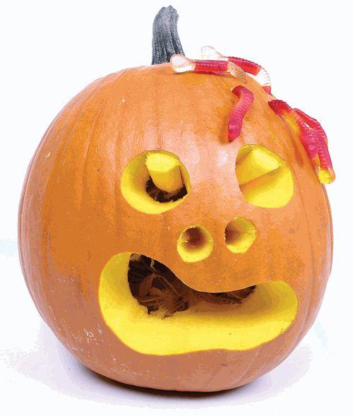 Photos amusantes et dr les de citrouilles d 39 halloween - Calabazas halloween originales para ninos ...