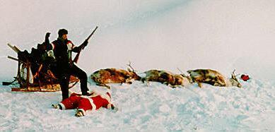 Alain  à la chasse. Mort-pere-noel