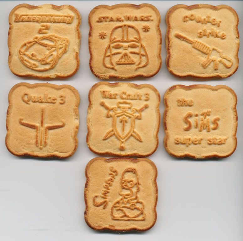 Wow! Même des biscuits de Quake 3 et Warcraft 3!