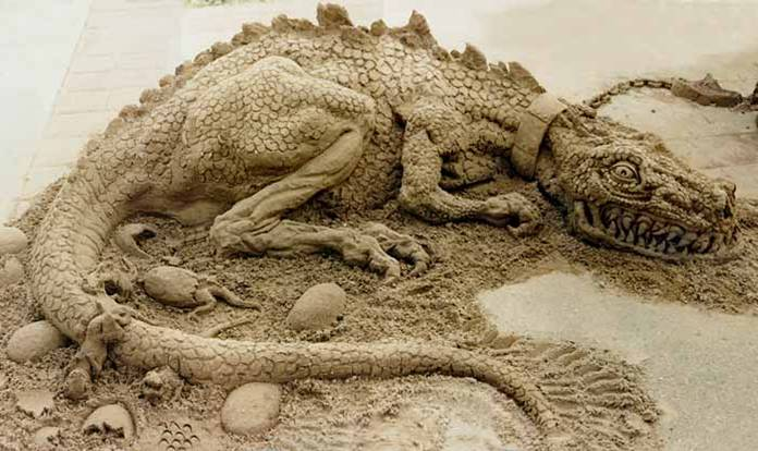 dans fond ecran sculpture sur sable dragon-sable
