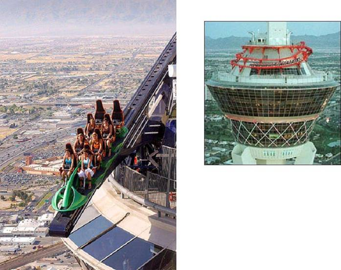 Photo du haut de la tour de la Statosphere Tower